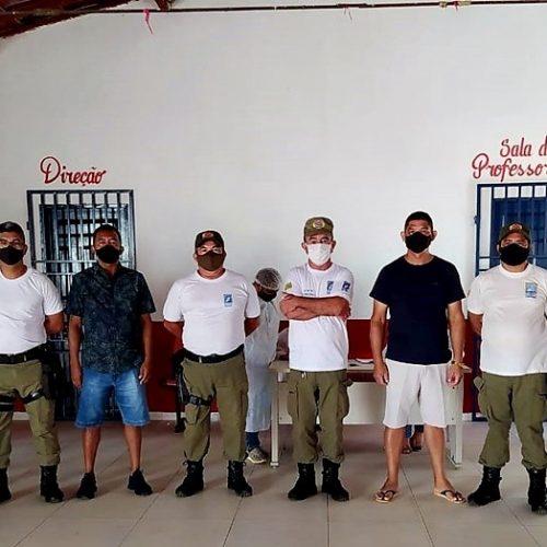 MARCOLÂNDIA | Policiais militares recebem a 1ª dose da vacina contra a Covid-19