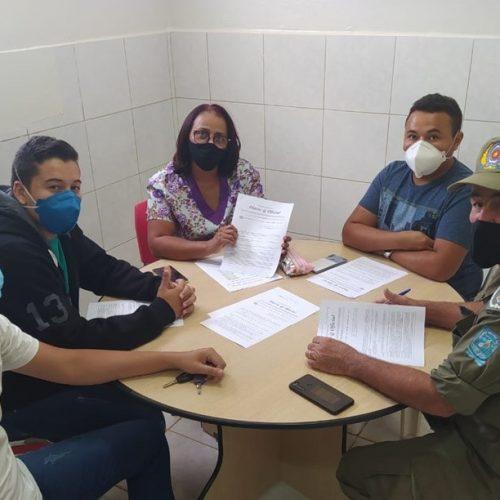 GPM e Vigilância Sanitária se reúnem para discutir estratégias de combate à Covid-19 em Marcolândia
