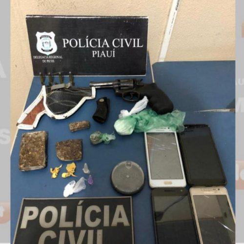 ITAINÓPOLIS   Operação prende duas pessoas por tráfico de drogas e posse ilegal de arma de fogo