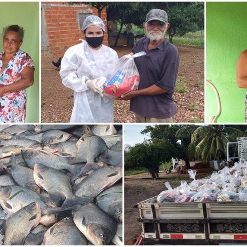 Prefeitura de Caridade do Piauí distribui toneladas de alimentos e garante mesa cheia na Semana Santa