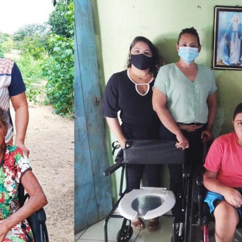 Secretaria de Saúde de Jaicós contempla usuários com entrega de cadeiras de roda e banho