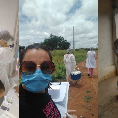 Idosos com idade entre 65 e 69 anos recebem 1ª dose de vacina contra a Covid em Caridade do Piauí