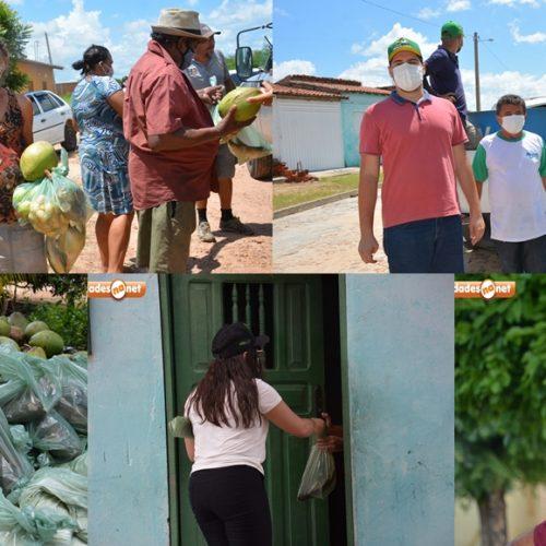 Prefeito de Belém do Piauí distribui peixes e outros alimentos para 1 mil famílias