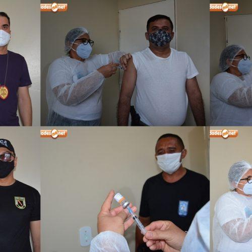 Secretaria de Saúde de Jaicós inicia imunização de policiais contra a covid-19