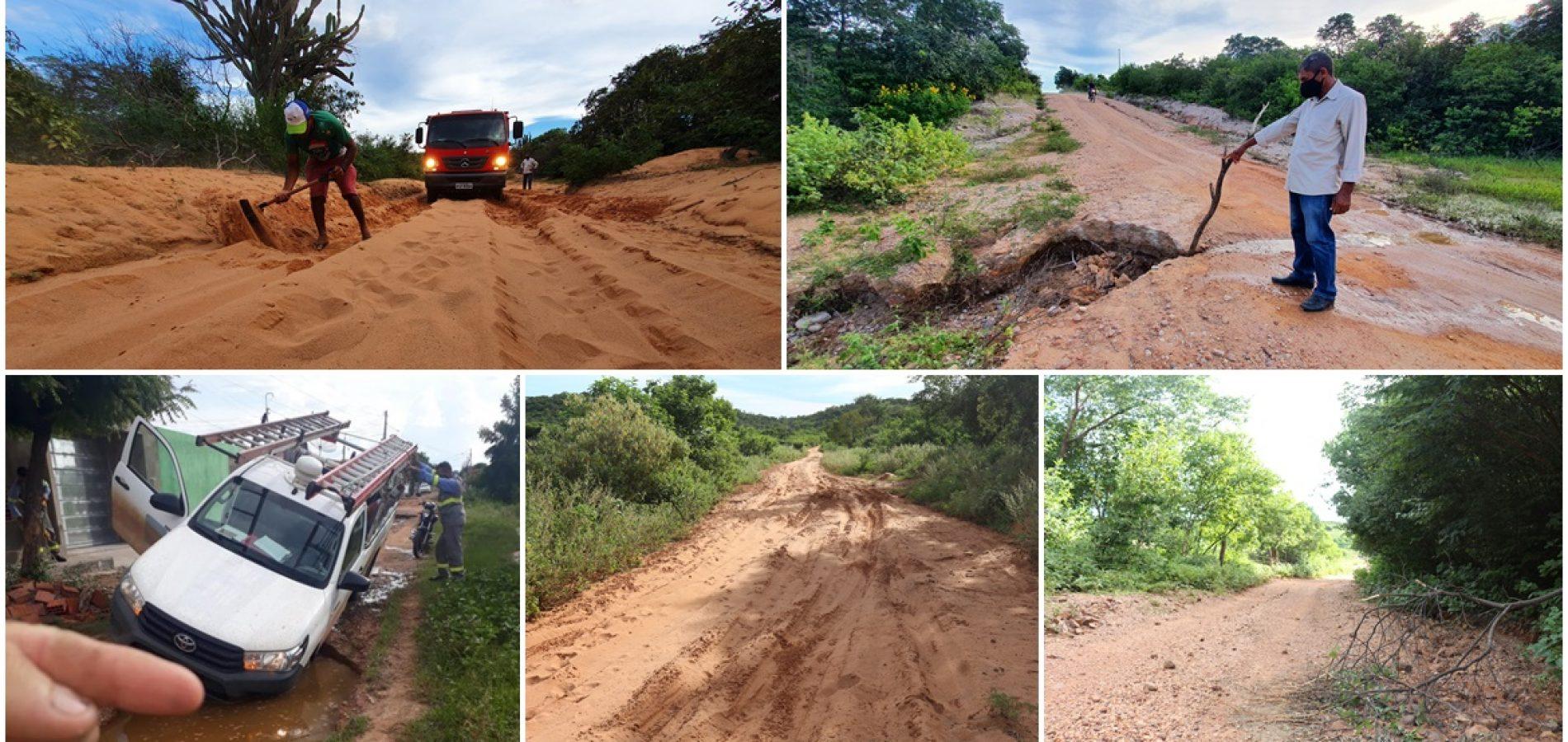 Patos do Piauí completa 29 anos com estradas abandonadas; carros atolam na cidade e no interior
