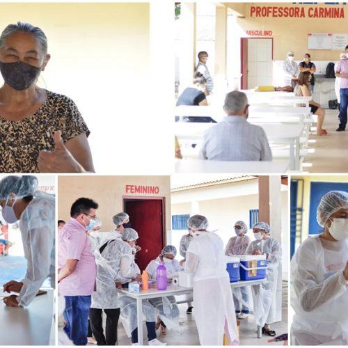 Vacinação contra Covid-19 contempla 117 idosos com idades de 65 a 69 anos em Marcolândia; fotos