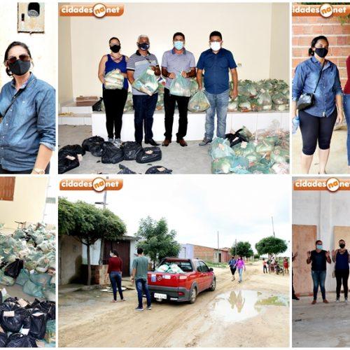 Gestão do prefeito Dr. Corinto distribui cerca de 1.000 kits jejum para famílias em Marcolândia; fotos