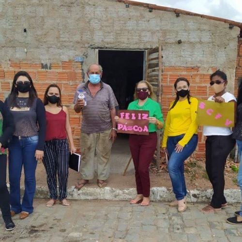 VILA NOVA | Páscoa itinerante da Assistência Social leva esperança e alegria para o grupo Flor do Sertão; fotos