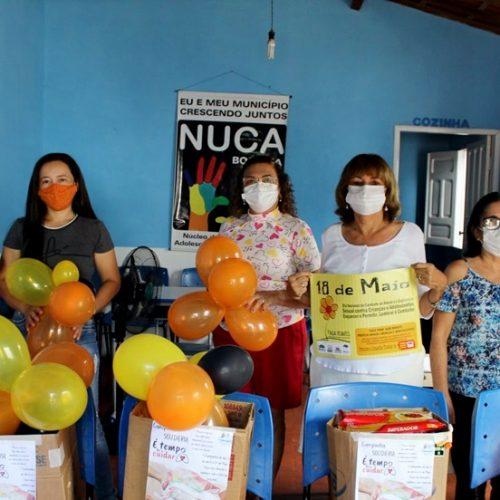 """Assistência Social de Bocaina realiza dia """"D"""" da campanha de combate ao abuso e exploração de crianças e adolescentes"""