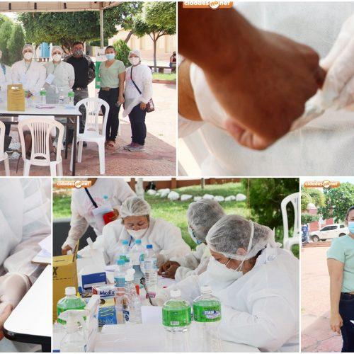 Sesapi e Secretaria de Saúde de Jaicós realizam Busca Ativa e 100 pessoas são testadas