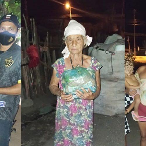 """Alimentos arrecadados na campanha solidária """"Comida na Mesa"""" são entregues a famílias de Jaicós"""