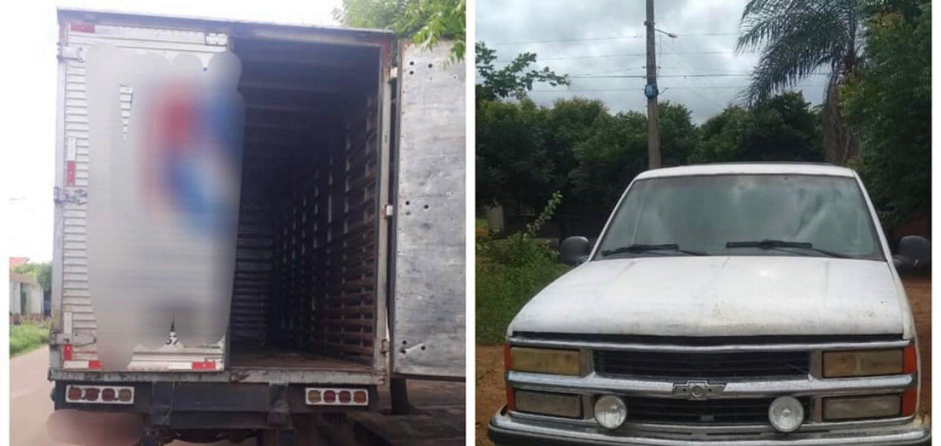 Polícia Militar de Picos recupera caminhão e caminhonete durante o final de semana