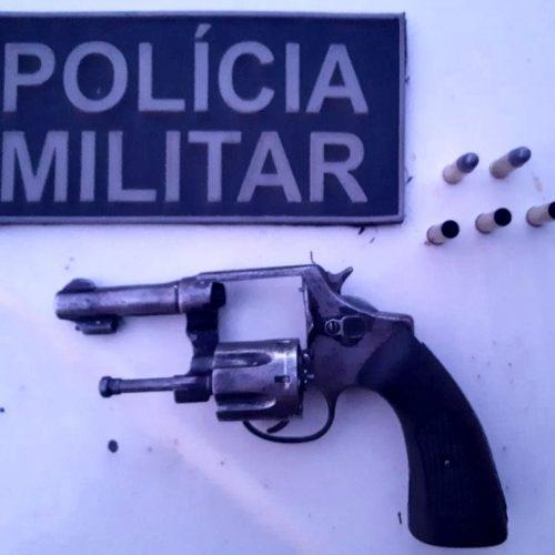 PM de Pio IX apreende revólver e conduz homem por porte ilegal de arma de fogo