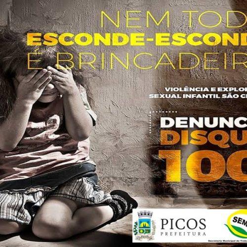 Prefeitura de Picos inicia Campanha de Combate ao Abuso e Exploração Sexual de Crianças e Adolescentes