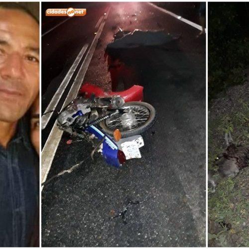 Motociclista colide com jumento, é colhido por caminhão e morre na BR 407
