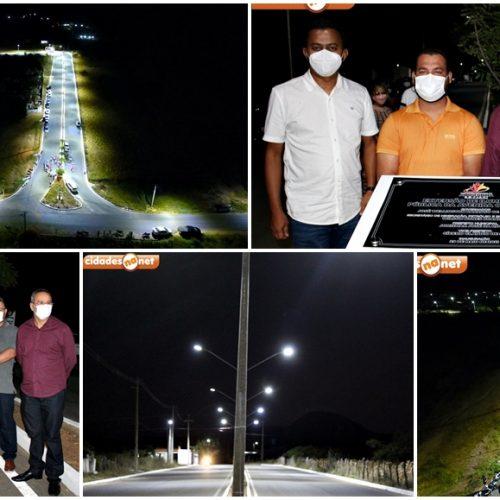 Prefeito Jorismar inaugura rede de iluminação pública e melhora qualidade de vida da população em Alagoinha; fotos