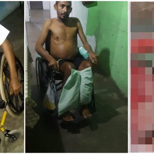 Há dois anos paraplégico e sem renda, agricultor de Alagoinha sofre com profundos ferimentos e esposa pede ajuda