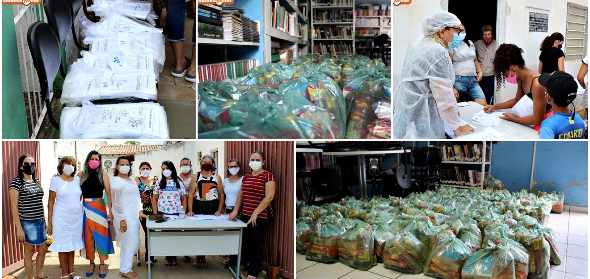 Educação de Bocaina distribui kits de merenda e entrega atividades escolares; fotos