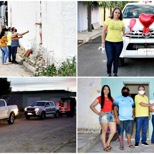 Assistência Social de Vila Nova realiza Drive-Thru e distribui lembranças em homenagem às mães; fotos