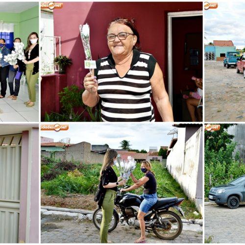Gestão de Dr. Samuel homenageia mães com Drive-Thru nas ruas e missa em ação de graças em São Julião; fotos