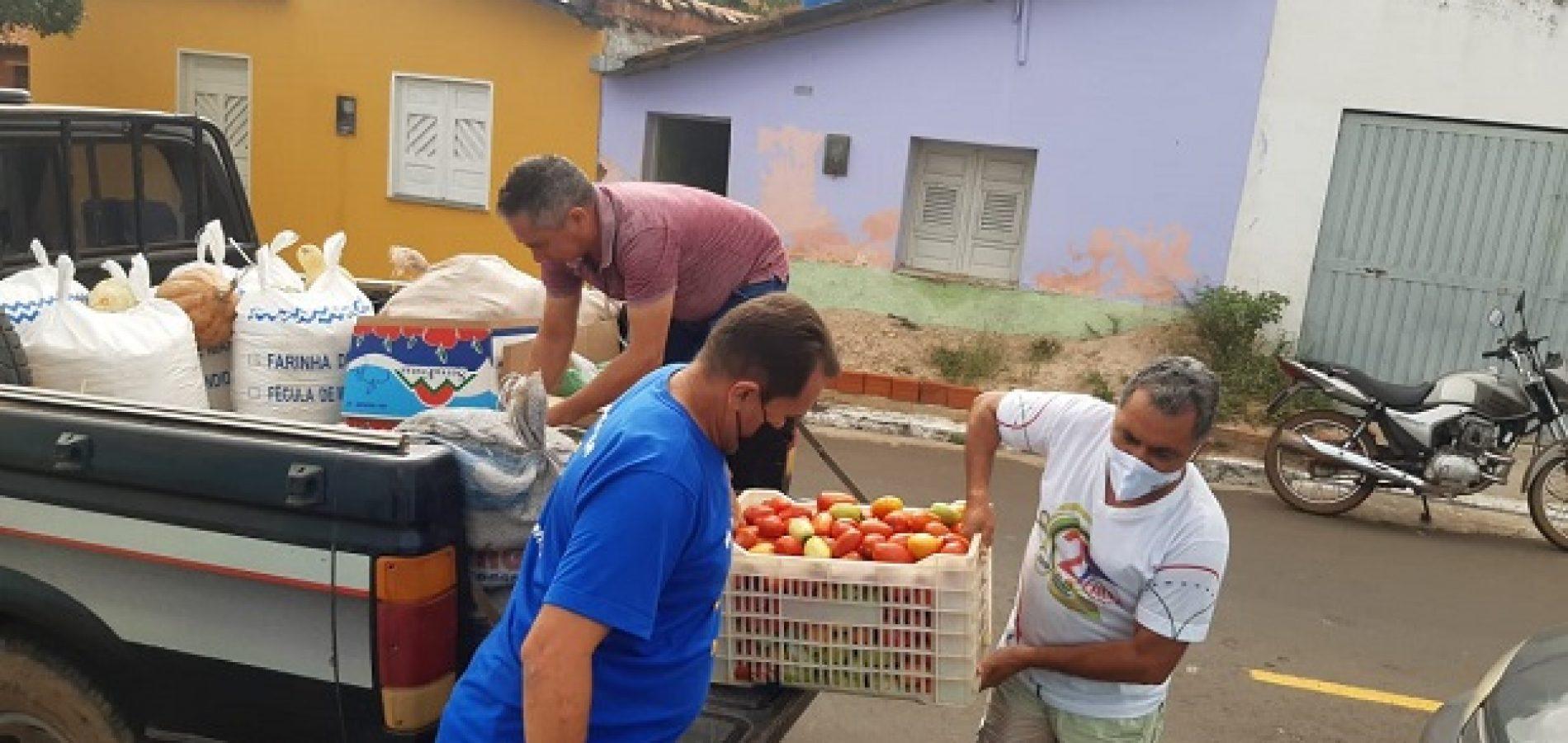 Mais de 100 kits de alimentos serão distribuídos para famílias em Santana do Piauí