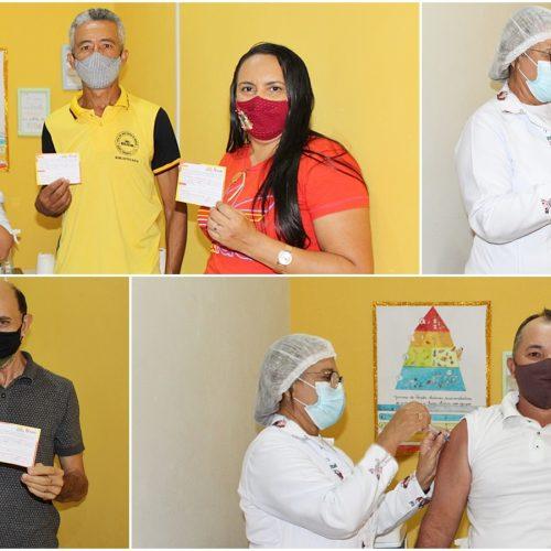Saúde de Curral Novo do Piauí inicia vacinação dos trabalhadores da educação contra a Covid-19