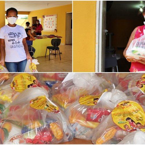 Educação de Curral Novo do Piauí faz entrega de mais de mil kits da merenda escolar