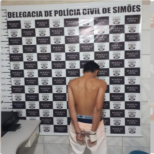Homem acusado de roubo e lesão corporal contra quatro mulheres é preso pela Polícia Civil em Simões