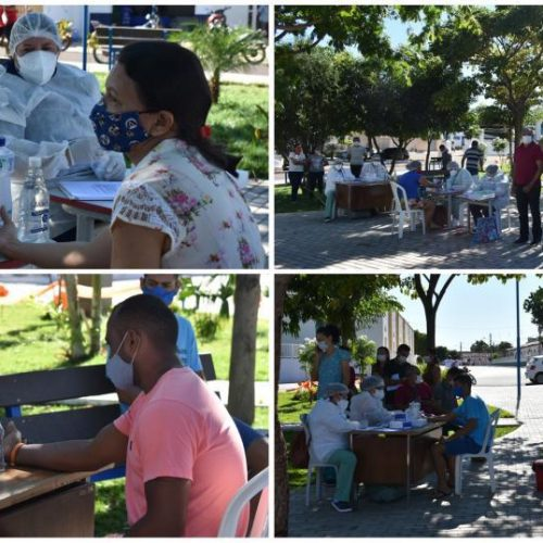 Saúde de Ipiranga do Piauí realiza Busca Ativa e 100 comerciantes são testados