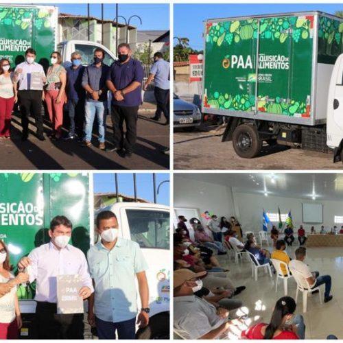 Ipiranga do Piauí recebe caminhão e fortalece a agricultura familiar