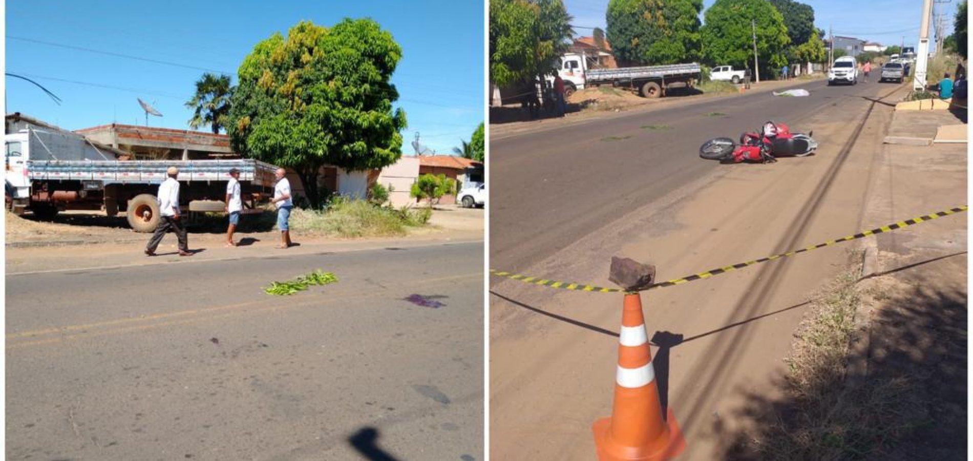 PICOS   Acidente deixa pai morto e filho gravemente ferido no bairro Umari