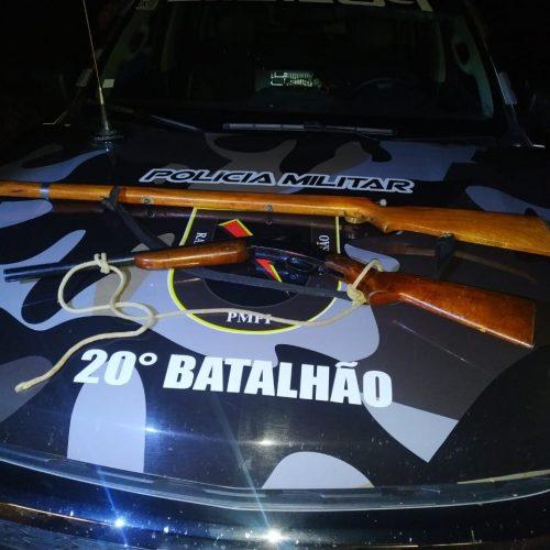 Motociclista é flagrado transportando arma na BR 407, em Acauã