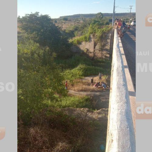 Mulher é encontrada caída embaixo de ponte em Monsenhor Hipólito