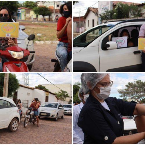 """Em Ipiranga do Piauí, 125 professores são vacinados contra a Covid; """"Doses de esperança"""", diz prefeito"""
