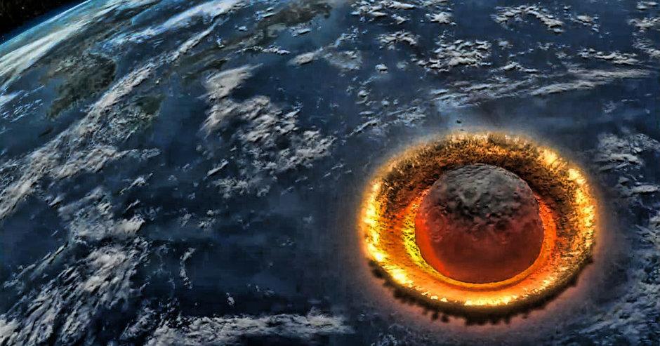 Resultado de imagem para impacte de meteorito, na Terra